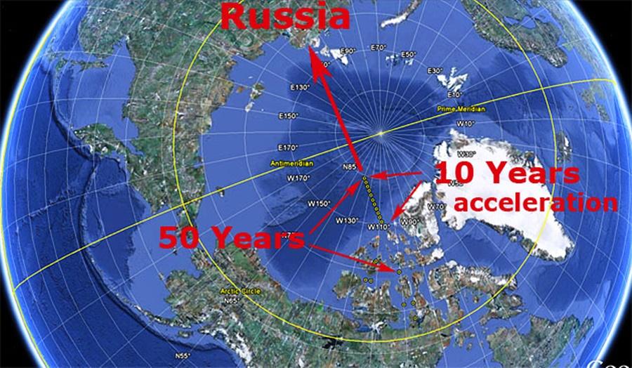 Zemljin sjeverni magnetski pol se ubrzano pomiče prema Rusiji
