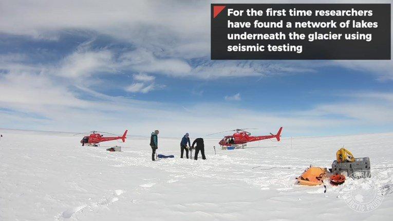 Pronađena su velika jezera ispod antarktičkih ledenjaka